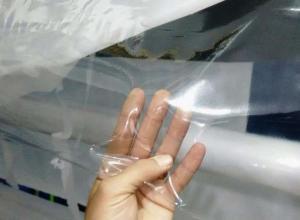 Plástico transparente grosso