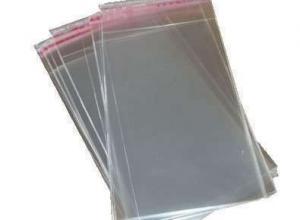 Saco adesivado transparente