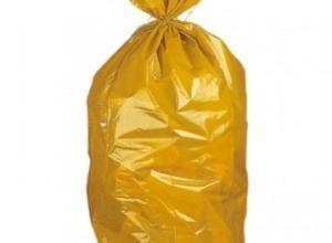 Saco de lixo amarelo