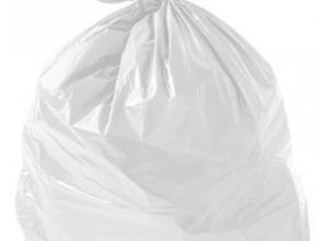 Saco de lixo leitoso