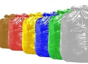 Saco lixo colorido