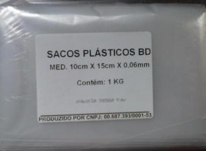 Saco plástico bd