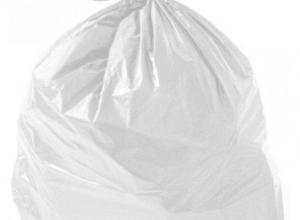 Saco plástico branco