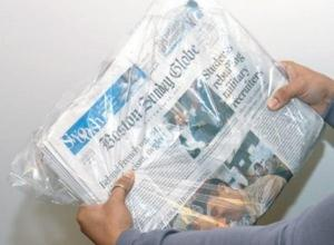 Saco plástico jornal