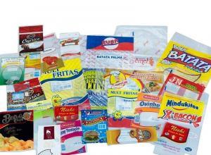 Saco plástico personalizado para alimentos
