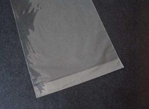 Saco plástico transparente adesivo