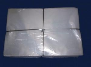 Saco plástico transparente embalagem