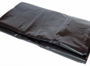 Sacola plástica preta