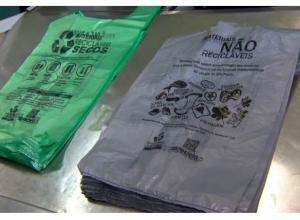 Sacolas plásticas biodegradáveis