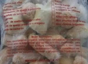 Sacos para salgados congelados